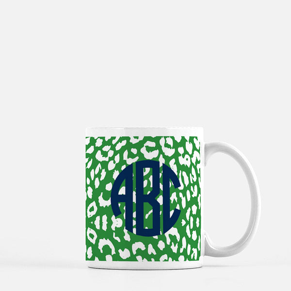The Nila Leopard Print Collection - Monogrammed Ceramic Mug