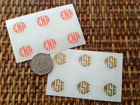 mini monogram decals