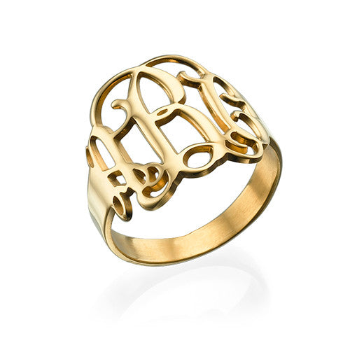 gold interlocking monogram ring