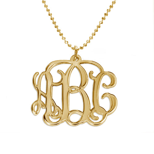 Interlocking Monogram Drop Necklace