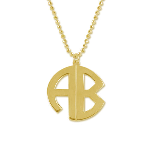 Circle Monogram Drop Necklace