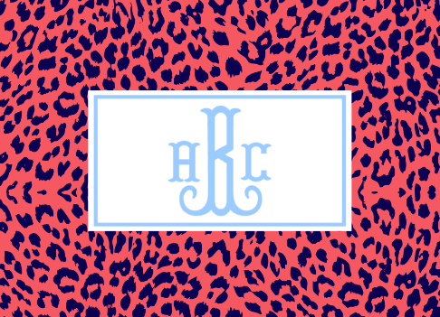The Nila Leopard Print Collection - Personalized Notecards