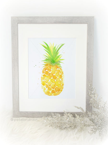 Pineapple watercolor print
