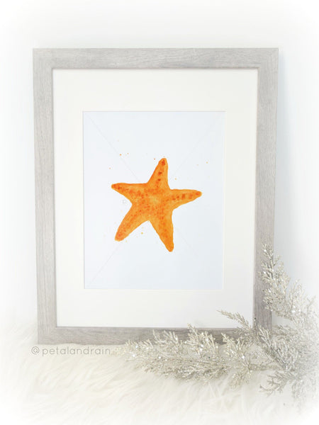 Starfish watercolor print