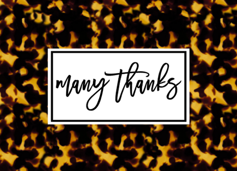 Tortoiseshell Thank You Cards