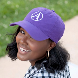 purple personalized baseball hat