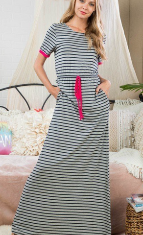 Sara Striped Maxi Dress