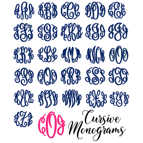 Cursive Monogram Decal