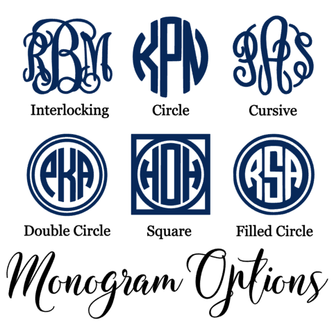 Monogram Computer Decal