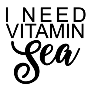 I Need Vitamin Sea Decal