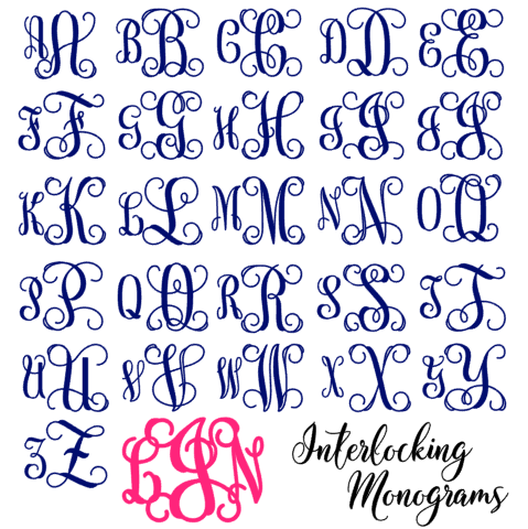 interlocking monogram style chart