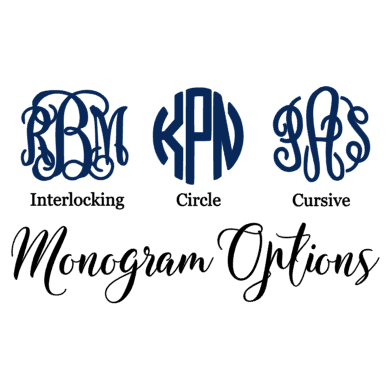 Monogrammed Pearls Decal