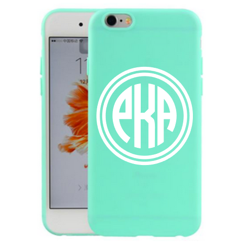 Monogrammed Smart Phone Case Decal