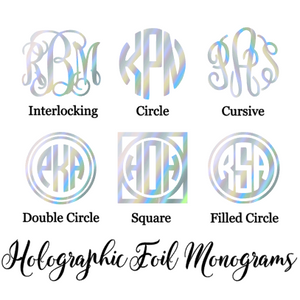 Holographic Foil Monogram Decal