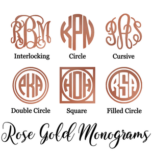 Rose Gold Monogram Decal