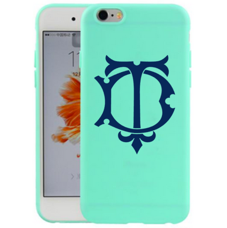 chic monogram decal on cell phone case
