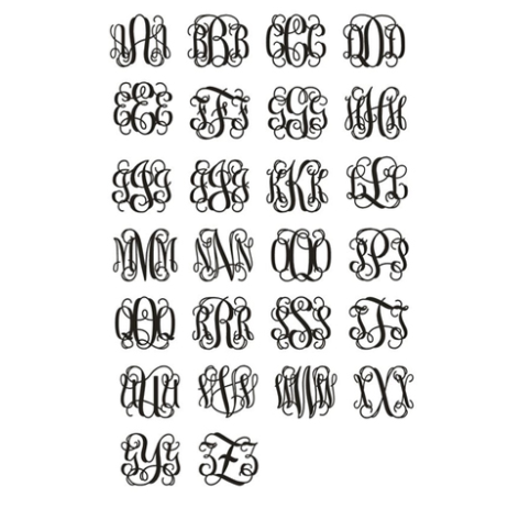 interlocking monogram alphabet
