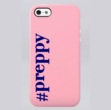 #preppy decal on phone case