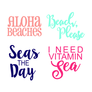 Cheeky Beach Phrase Decal