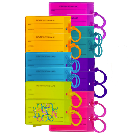 Monogrammed Neon Luggage Tag