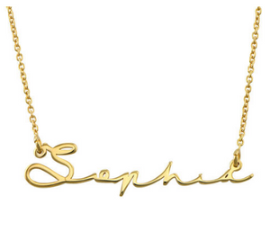 Signature Script Name Necklace