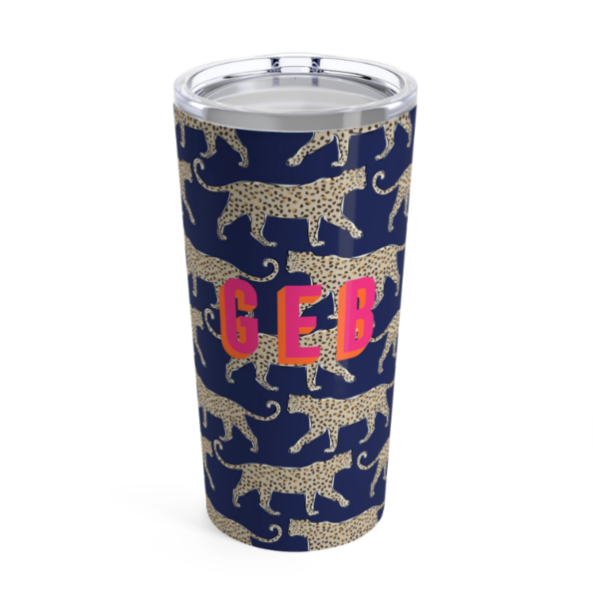 Personalized Leopard Tumbler
