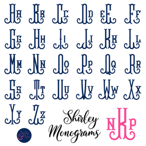 Shirley Monogram Vinyl Decal
