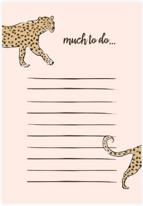 Leopard Print To Do List Notepad