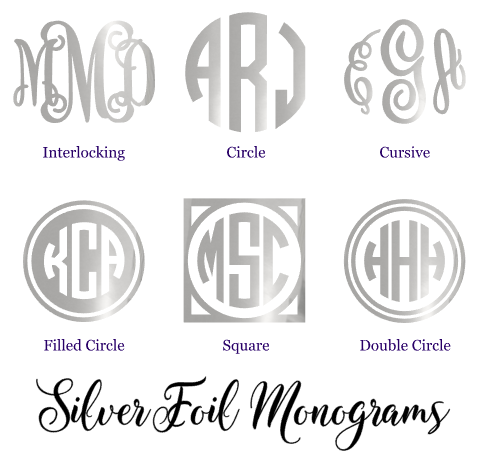 Silver Foil Monogram Decal