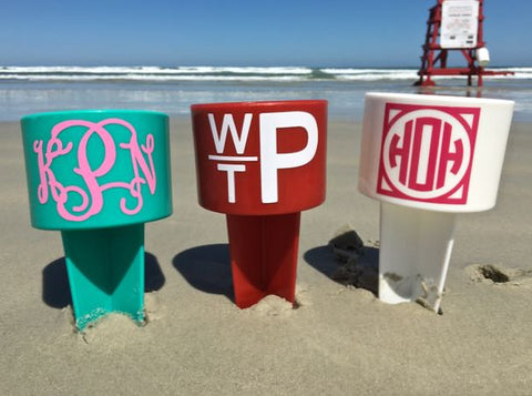 Monogrammed Beach Spiker Drink Holder