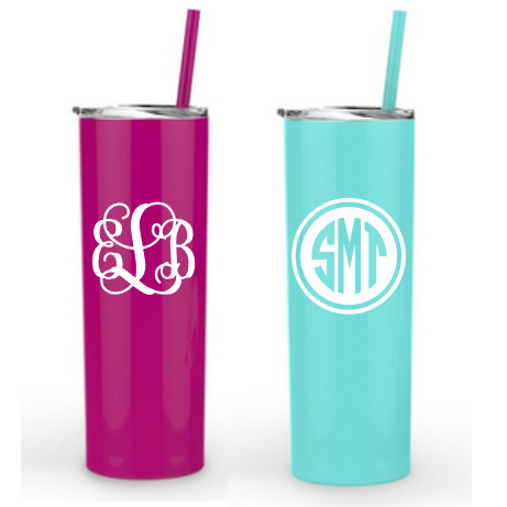 skinny tumblers with monogram