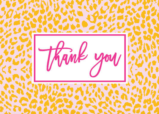The Nila Leopard Print Collection - Thank You Cards