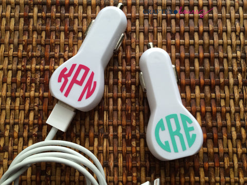 Monogrammed Car Charger