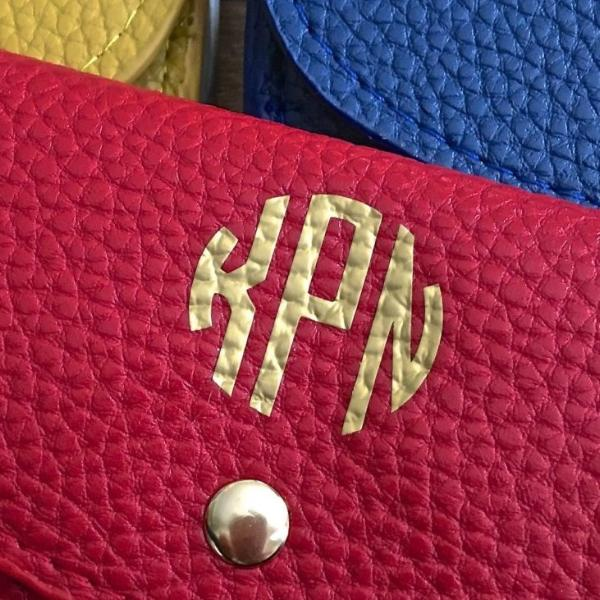 Personalized Wallet with Classic Gold Monogram