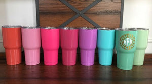 Monogrammed Powdercoated Stay Cold Stainless Steel Tumbler - 30oz.