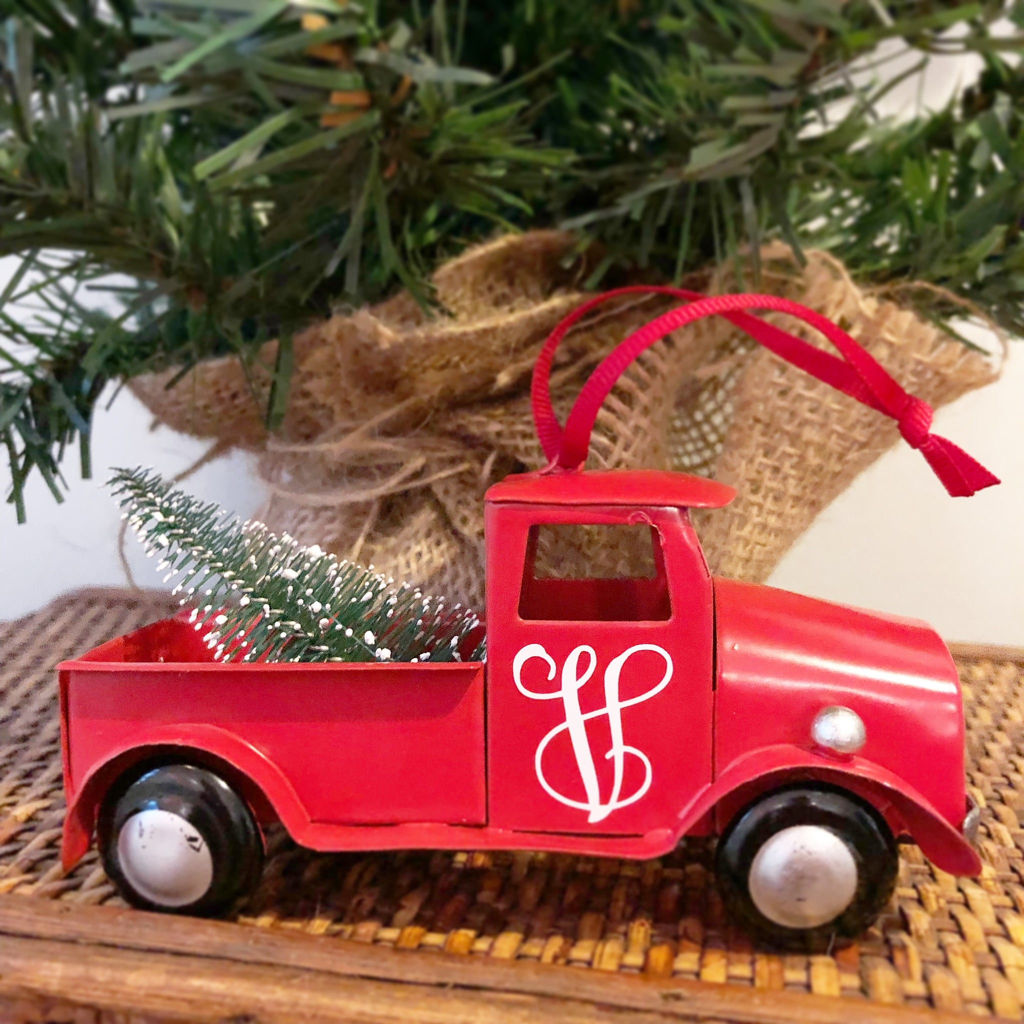 Personalized Vintage Truck Ornament