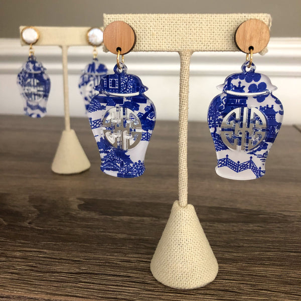 Elizabeth Collection Ginger Jar Earrings