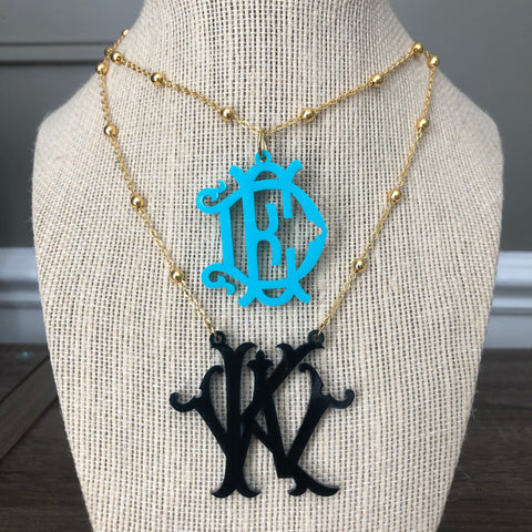 Acrylic Monogram Chic Necklace