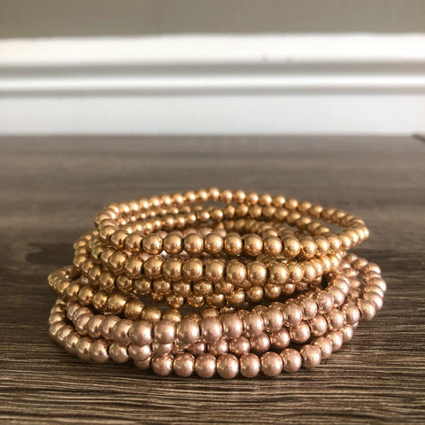Beaded Ball Bracelet Stack