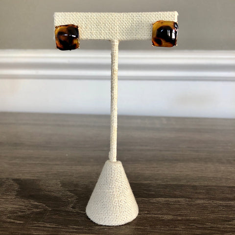 Tortoise Shell Stud Earrings