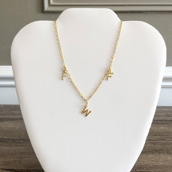 Trixie Bamboo Initial Necklace