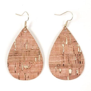 Gold Fleck Cork Earrings
