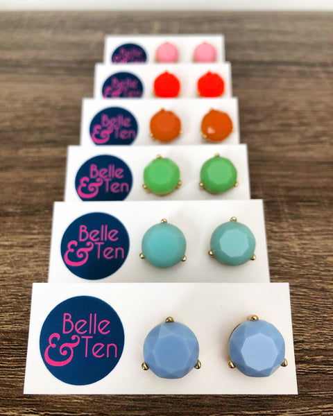 Candy Color Stud Earrings