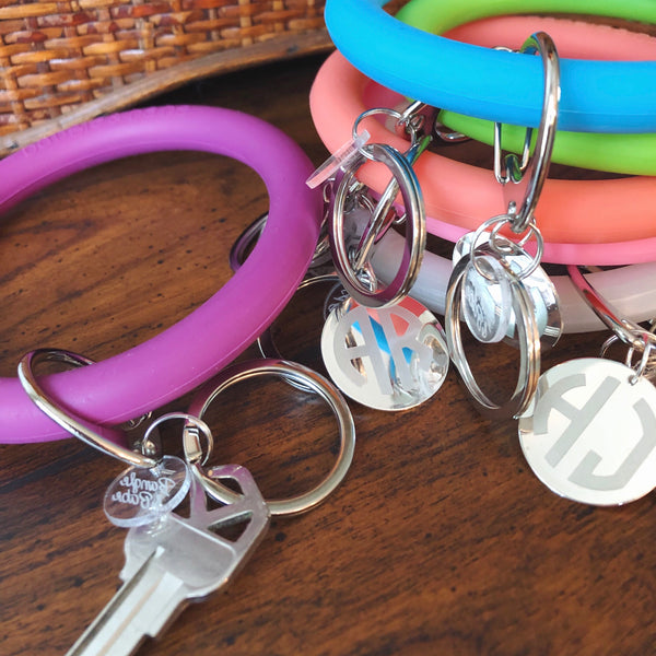 Monogrammed Bangle & Babe BAMBOO Bracelet Key Chain