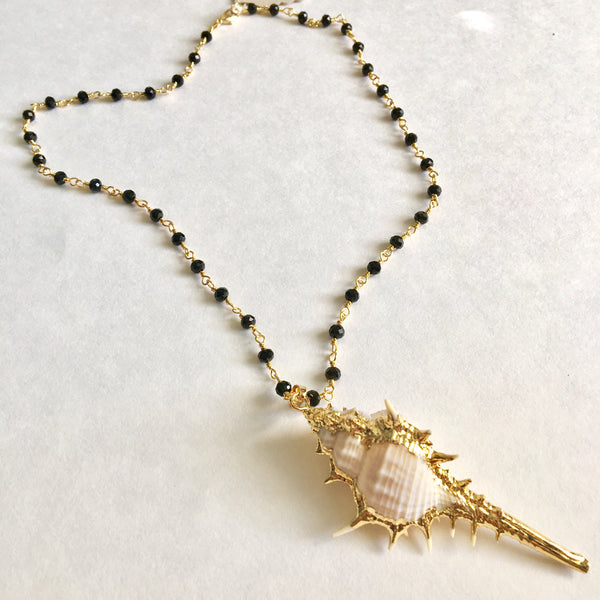 24K Gold Dipped Conch Shell Necklace