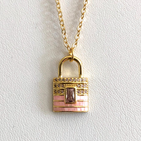 Bella Lock Necklace