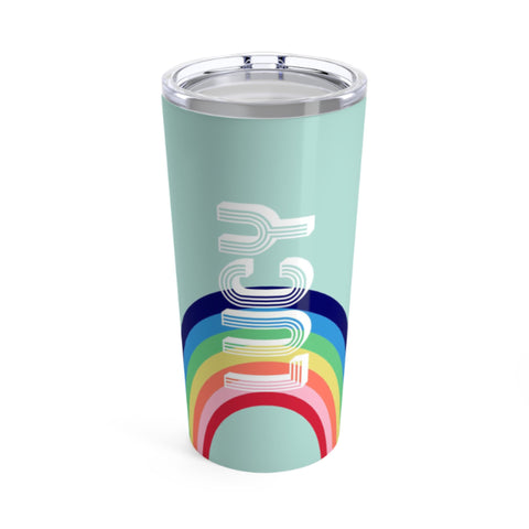 Personalized Rainbow Tumbler