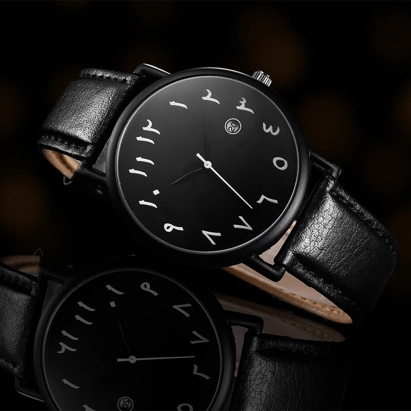 Ayaan - Arabic Watch Black - dumiyah