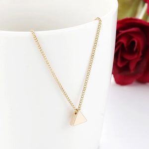 Dainty Triangle Necklace - dumiyah