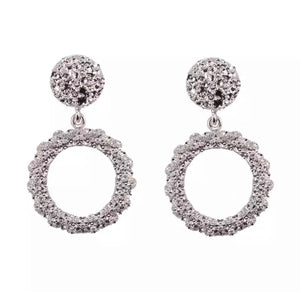 Round Statement Earring - Silver